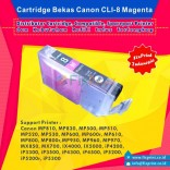 Cartridge Bekas Canon CLI-8M Magenta, Tinta Printer Canon IX4000 IX5000 MP830 MP810 MP970 MX850 iP3500 iP4500