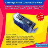 Cartridge Bekas Canon PGI-5BK Black, Tinta Printer Canon IX4000 IX5000 MP830 MP810 MP970 MX850 iP3500 iP4500
