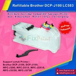 Cartridge Refillable MCISS Brother DCP J100 J105 J200 MFC2510 J2510 J3520 J3720, LC-583 LC-585 LC-587 LC535 LC539 LC509 LC565 LC505 LC529 LC525 LC563 LC567 LC101 LC103 LC105 LC107