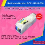Cartridge Refillable MCISS Brother DCP J125 J315W J515W MFC J220 J265W J410 J415W CARTRIDGE LC39 LC985 LC38 LC61 LC980 LC990