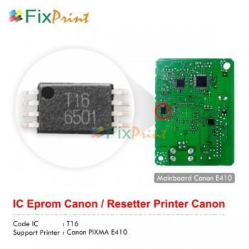 Gambar IC Eprom Canon E410 New Model T16, IC Eeprom Reset Canon E410, IC Counter E410, Resetter Printer Canon E410 T16