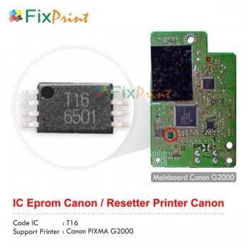 Gambar IC Eprom Canon G2000 T16, IC Eeprom Reset Canon G2000, Resetter Printer Canon G2000 T16