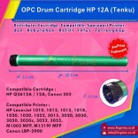 OPC Drum Toner Cartridge Tenku HP 12A  Q2612A Canon 303, HP LaserJet 1010 1012 1015 1018 1020 1020 Plus 1022 Series 3015 3020 3030 3050 3050z 3052 3055 All-in-One M1005 MFP M1319f MFP Canon LBP2900