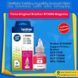 Tinta Brother Original BT5000 BT 5000 Magenta, Tinta Refill Printer Brother DCP-T300 DCP-T500W DCP-T700W MFC-T800W