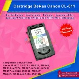 Cartridge Bekas Canon CL-811 CL811 811 Color, Tinta Printer Canon IP2770 MP237 MP245 MP258 MP276 MP287 MP486 MP496 MP497 MX328 MX338 MX347 MX357 MX366 MX416 MX426