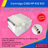 Cartridge CISS HP932 HP933 HP 932 933 Plus Auto Reset Chip Printer HP Officejet Pro 7610 7110 6100 6600 6700