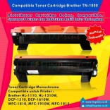 Compatible Cartridge Brother TN-1000 tn1000, Printer Brother HL-1110 HL-1210W DCP-1510 DCP-1610W MFC-1810 MFC-1910W MFC-1815