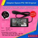 Adaptor Printer Epson PS-180 TMU220 TMT86L T88 T884 T883 T885 Original New, Power Supply Epson TM-U220 TMT86L TM-T88 TM-T88IV TM-T88III TM-T88V