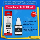 Tinta Canon GI-790 GI790 790 Black 135ml, Suport Printer Canon G1000 G2000 G2002 G3000