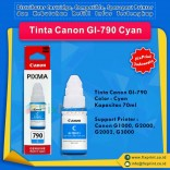 Tinta Canon GI-790 GI790 790 Cyan 70ml, Suport Printer Canon G1000 G2000 G2002 G3000