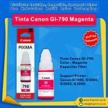 Tinta Canon GI-790 GI790 790 Magenta 70ml, Suport Printer Canon G1000 G2000 G2002 G3000