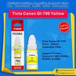 Tinta Canon GI-790 GI790 790 Yellow 70ml, Suport Printer Canon G1000 G2000 G2002 G3000